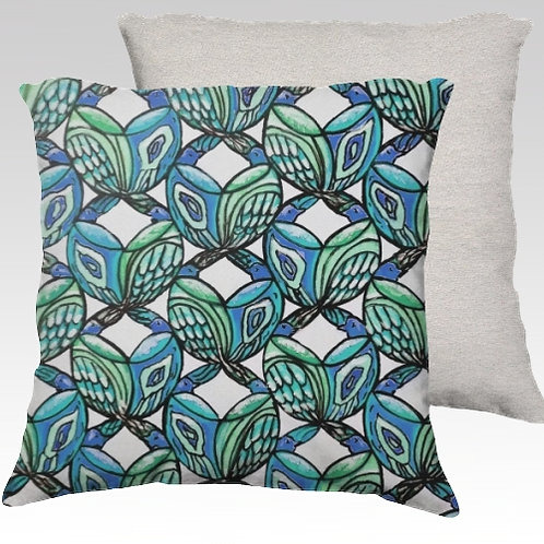 Birds Velvet Pillow