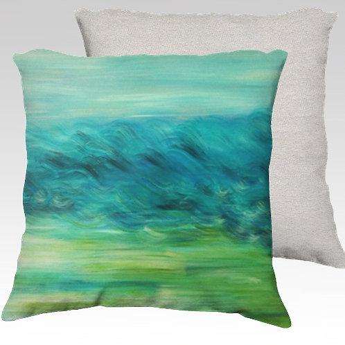 Moving Landscape Velvet Pillow