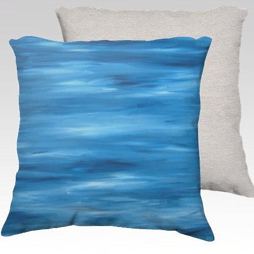 Shades of Blue Velvet Pillow