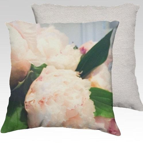 Peonies Velvet Pillow