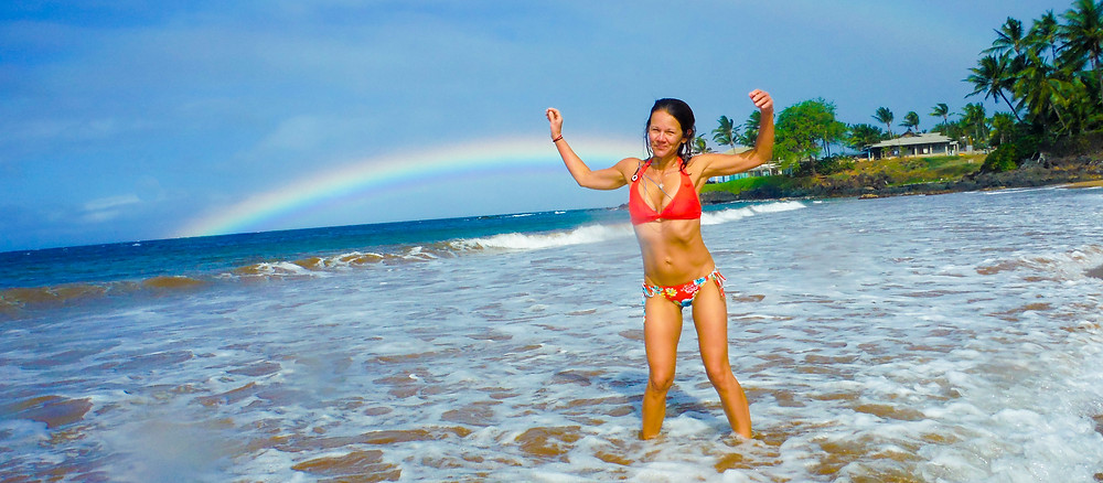 A December celebration dance in Maui's warm waters!