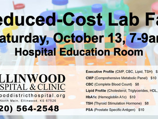 Reduced-Cost Lab Fair October 13