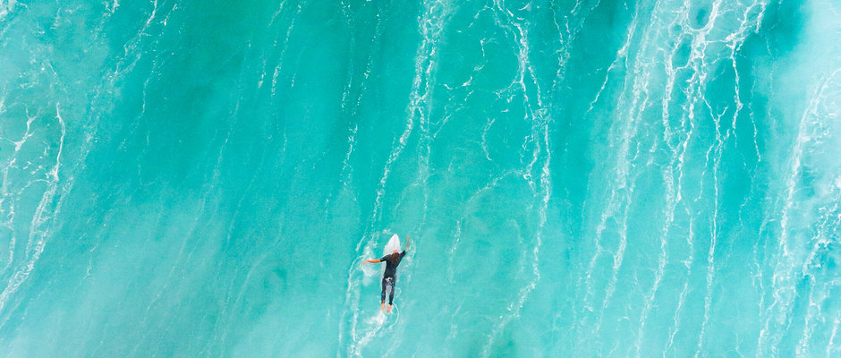 """Surfers Paradise 10x20"""" Matted Print"""