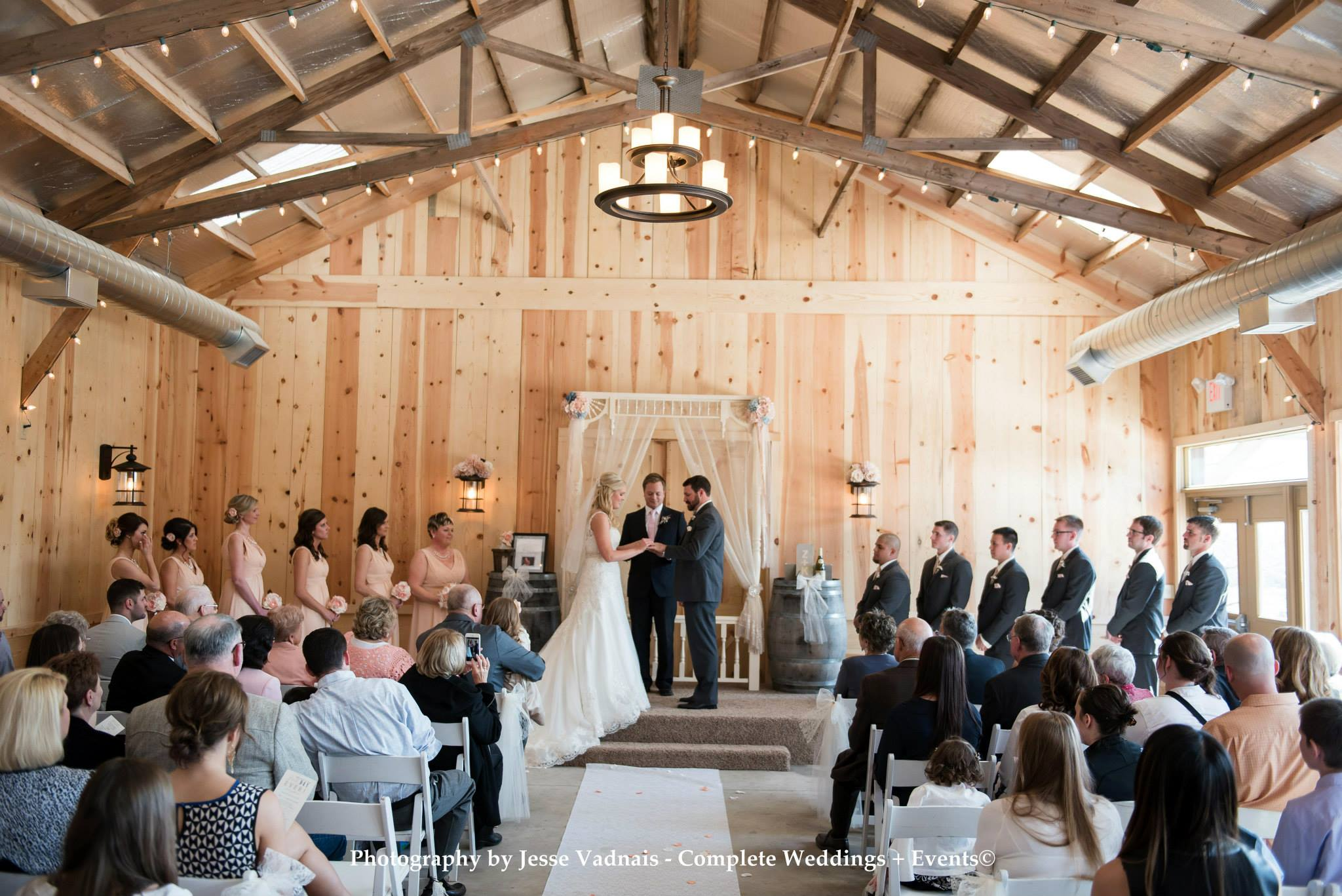 Ceremony in the barn