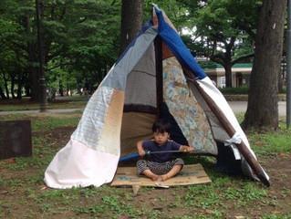 円山公園こども夏祭りに、ぺちゃクチャ出現!