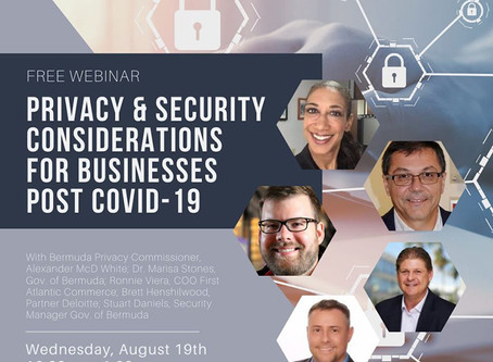 """Appearances & Events: BEDC's """"Mind Your Business"""" & Bermuda Cybersecurity Governance Board Webinar"""