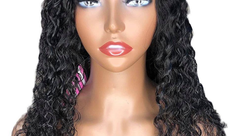 "4x4 18""Deep Wave Lace Closure Wig"