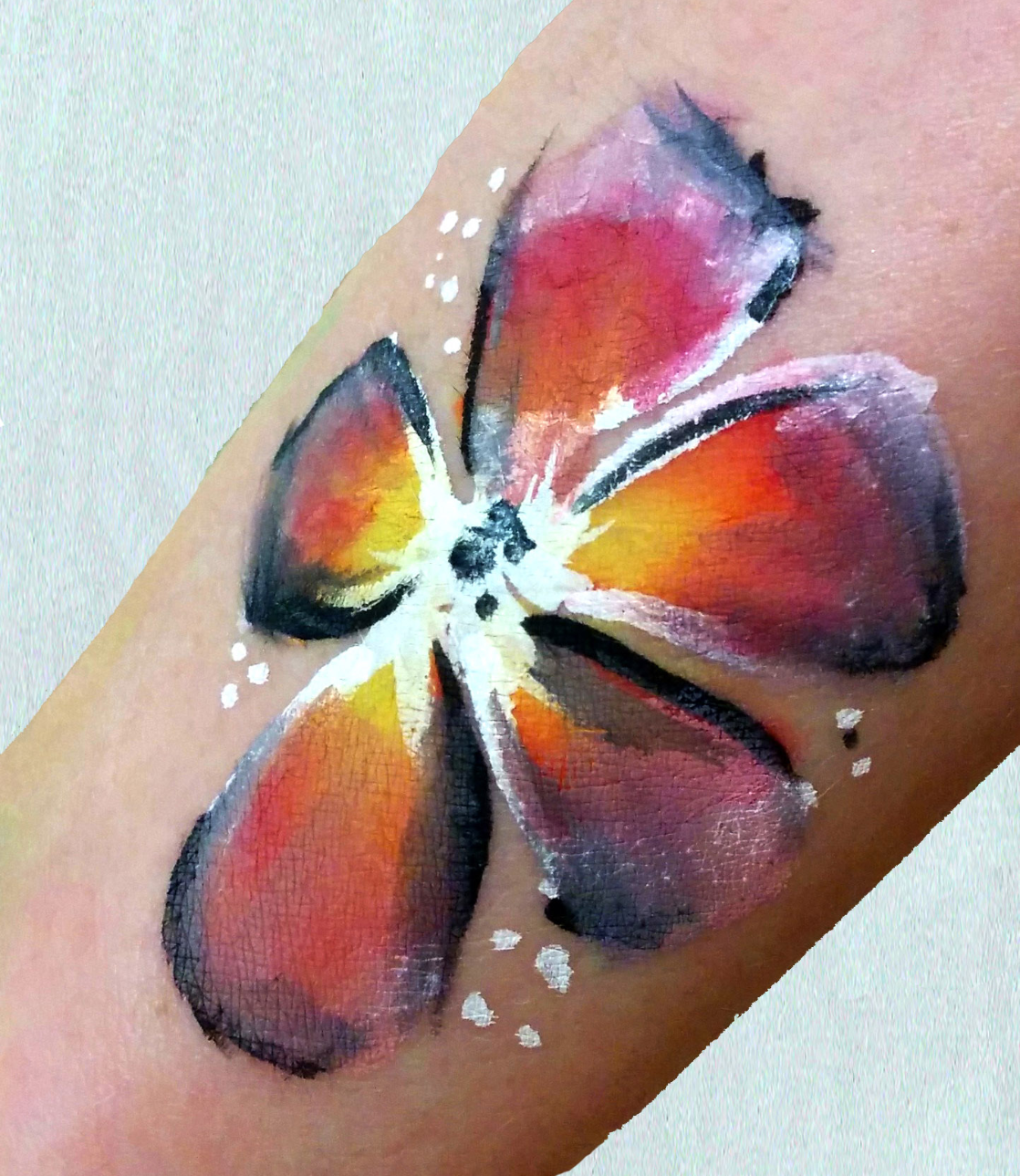 Water-colour Style Flower