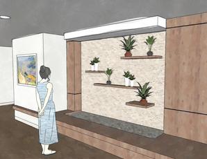 entry foyer for residential treatment