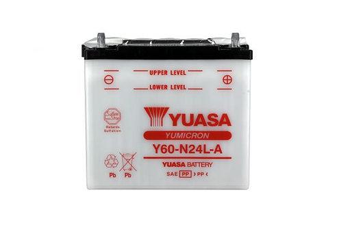 BATTERIE YUASA Y60-N24L-A 12V 28Ah 280A