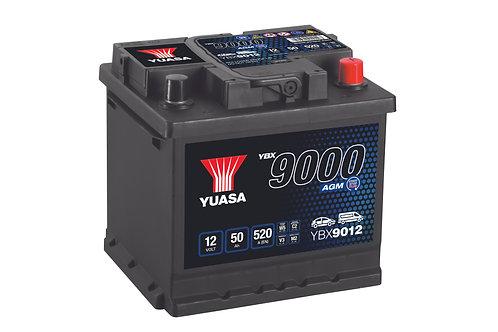 YBX9012 L1 AGM START&STOP 12V 50Ah  520A
