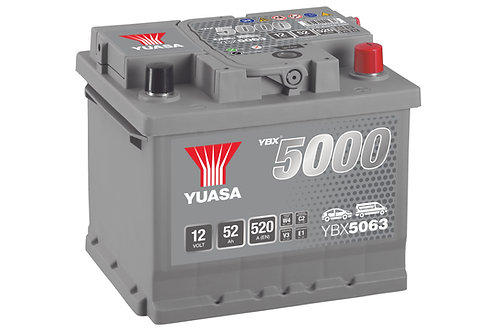 YBX5063 L1B 12V 52Ah  520A