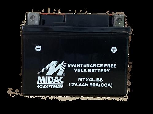 BATTERIE MIDAC AGM YTX4L-BS 12V 4Ah  50A