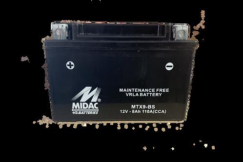 BATTERIE MIDAC AGM YTX9-BS 12V 8Ah  130A