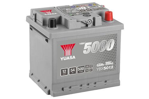 BATTERIE YUASA 5000 L1 12V 54Ah  500A