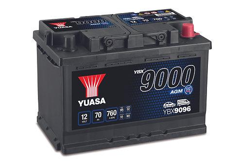 YBX9096 L3 AGM START&STOP 12V 70Ah  760A