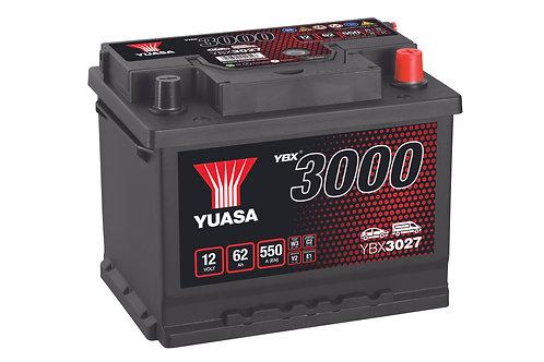 YBX3027 L2 12V 62Ah  550A