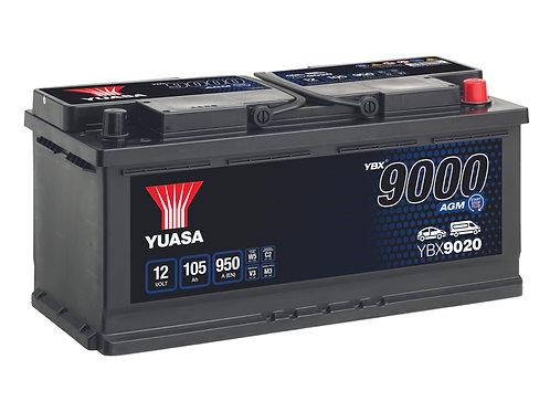 BATTERIE YUASA L6 AGM START&STOP 12V 105Ah  950A