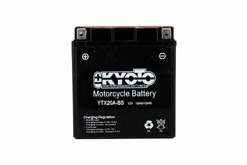 BATTERIE KYOTO YTX20A-BS 12V 18Ah 250A