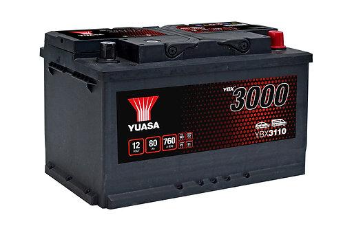 BATTERIE YUASA 3000 L4B 12V 80Ah  760A