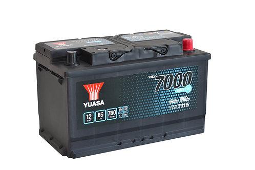YBX7115  EFB L4 START&STOP 12V 85Ah  760A