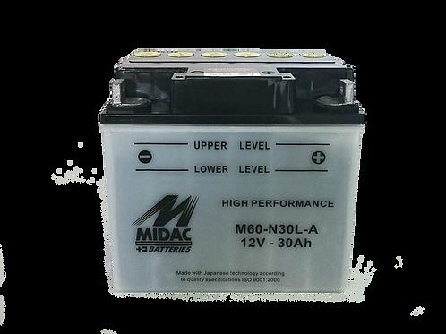 BATTERIE MIDAC AGM Y60-N30L-A 12V 30Ah 300A