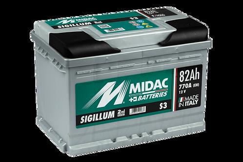 BATTERIE MIDAC SIGILLUM S3 L3 12V 82Ah  770A