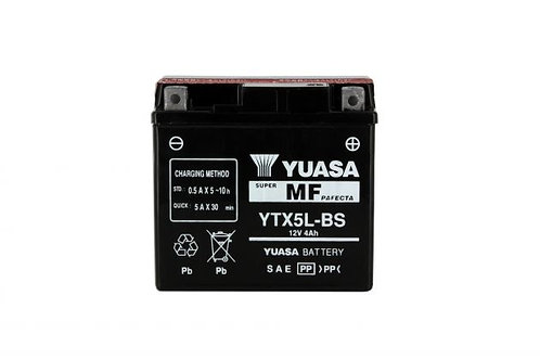 BATTERIE YUASA YTX5L-BS 12V 4Ah 60A