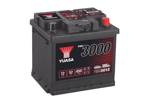 BATTERIE YUASA 3000 L1 12V 52Ah  450A
