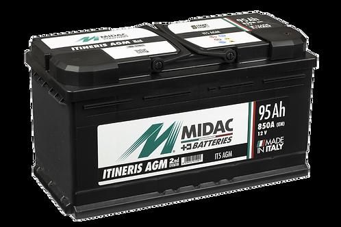 BATTERIE MIDAC IT5 AGM L5 START&STOP 12V 95Ah  850A