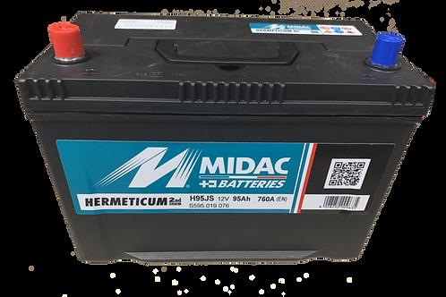 BATTERIE MIDAC HERMETICUM JIS  H95JS D31R 12V 95Ah  760A
