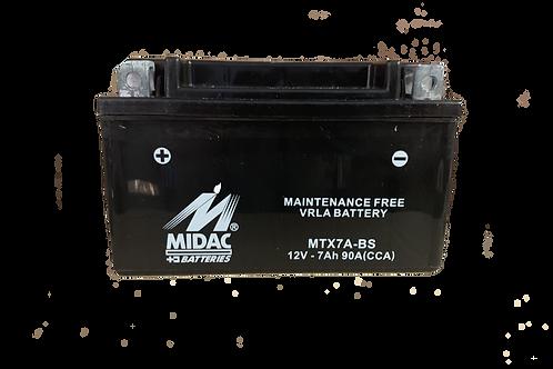 BATTERIE MIDAC AGM YTX7A-BS 12V 7Ah  90A