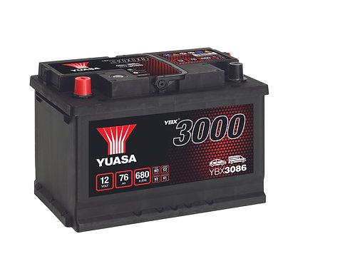 YBX3086 L3BR 12V 76Ah  680A