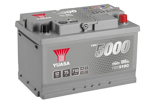 YBX5100 L3B 12V 75Ah  710A
