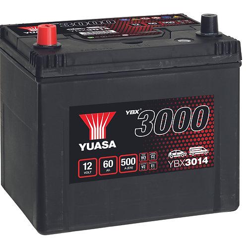 BATTERIE YUASA 3000 D23R JIS 12V 60Ah 500A