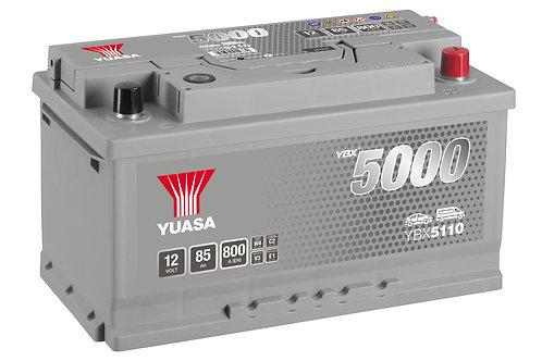 BATTERIE YUASA 5000 L4B 12V 85Ah  800A