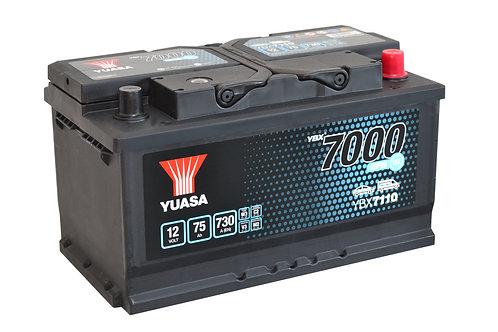 YBX7110  EFB L4B START&STOP 12V 75Ah  730A