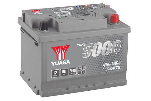YBX5075 L2B 12V 60Ah  640A