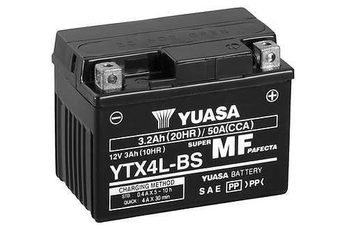 BATTERIE YUASA YTX4L-BS SECOURS 12V 50Ah  114A