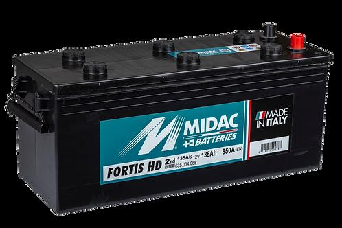 BATTERIE MIDAC FORTIS HD 135AS 12V 135Ah  850A