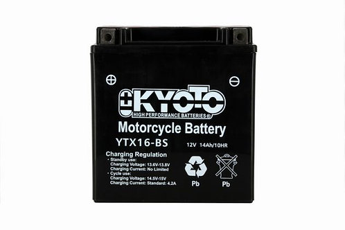 BATTERIE KYOTO YTX16-BS 12V 14Ah 220A