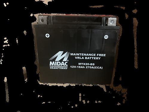 BATTERIE MIDAC AGM YTX20-BS 12V 18Ah  270A