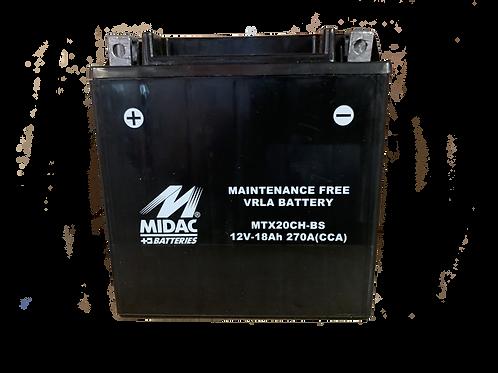 BATTERIE MIDAC AGM YTX20CH-BS 12V 18Ah  270A