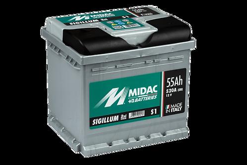 BATTERIE MIDAC SIGILLUM S1 L1 12V 55Ah  520A