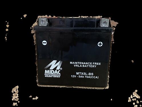 BATTERIE MIDAC AGM YTX5L-BS 12V 5Ah  70A