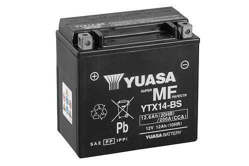 BATTERIE YUASA YTX14-BS SECOURS 12V 12.6Ah  200A