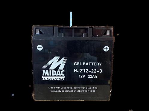 BATTERIE MIDAC GEL 12-19-BS 12V 22Ah  300A