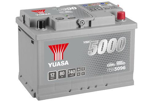 BATTERIE YUASA 5000 L3 12V 80Ah  740A