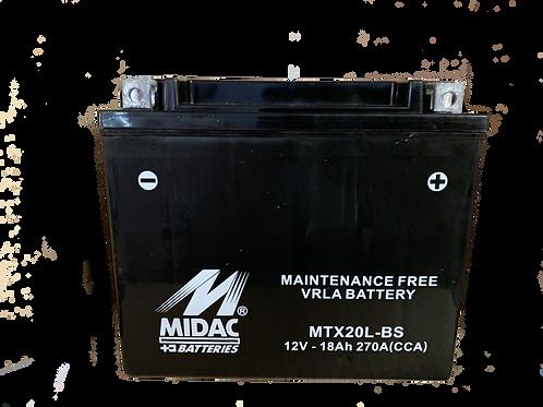 BATTERIE MIDAC AGM YTX20L-BS 12V 18Ah  270A