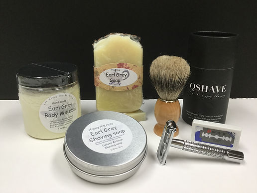 Earl Grey Deluxe shaving set with soapww